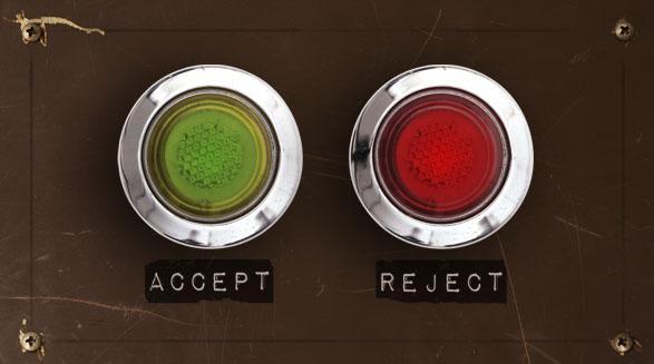 reject button