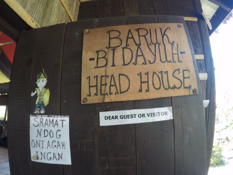 baruk bidayuh head house