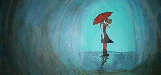 Gadis pegang payung